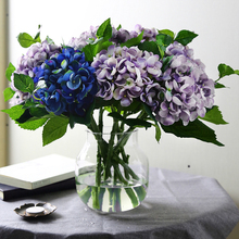 Artificial Hydrangea Silk Flower Flores Real Touch Hydrangea Artificial Succulent Flower Ball Wedding Decoration Bouquet