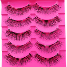 New Style 5 Pairs/ 10 Pieces Natural Sparse Cross Eye Lashes Long Fake False Eyelashes Thick Beam Extension Beauty Makeup