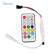 wholesale New DC5v 21 key IR led pixel controller for led strip WS2811//WS2812B/TM1804/TM1809/INK1003/ICS1903 63kinds of effects