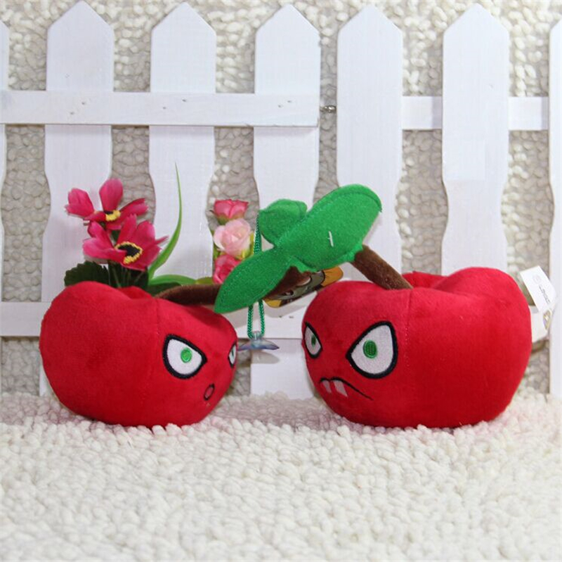 Hot sale 14CM (Cherry Bomb) Plants vs zombies doll plush toy Doll Top games Baby Toy for Children Gifts toys<br><br>Aliexpress