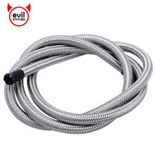 evil energy AN10 Stainless Steel Silver Braided PTFE Brake Hose Teflon Line Racing Hose Fuel Oil Line Oil Cooler 3.3FT(China)