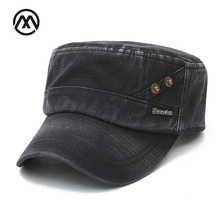 Unisex Cotton Men Flat Top Cap Military Hats Classic Autumn Casual Adults Hats Adjustable Vintage Army Hat Military Patrol Cap