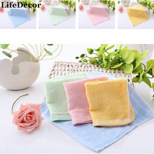25x25cm Bamboo Fiber Towel Face Hand Solid Pink Green Yellow Blue Soft Towel Baby Children Towels Quick Absorbency High Quality