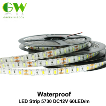 LED Strip 5730 Waterproof DC12V Flexible LED Light 60LED/m 5m/lot Brighter than 5050 5630 LED Strip.(China)