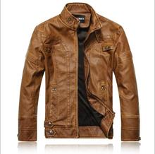 Motorcycle Leather Jackets Men Autumn Winter Leather Clothing Men Leather Jackets Male Business casual Coats(China)