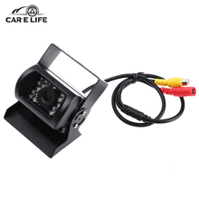 18 IR LED Car Rear View Camera Backup Reversing Parking Rearview Cam Night Vision 150 Degree Wide Angle Waterproof for Truck Bus(China)