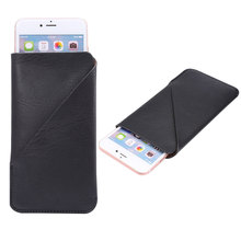 New Universal Leather Phone Bag Case For iphone7 6P Opening Holster Cover Pocket Pouch For HTC For LG Huawei For Samsung S8 Plus
