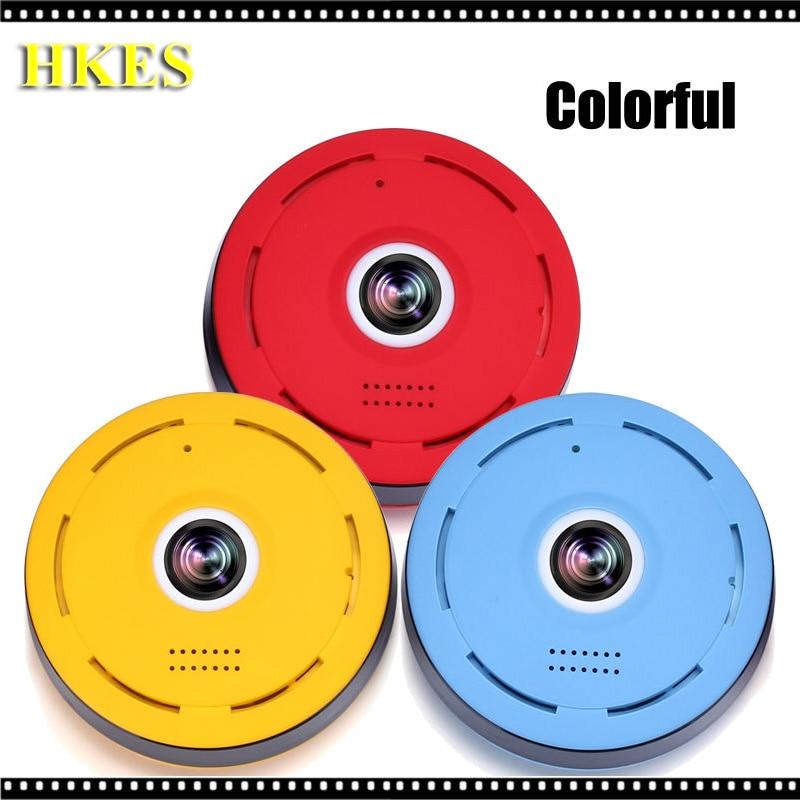 HKES  HD FishEye IP camera 960P 360 degree Full View Mini CCTV Camera 1.3MP Network Home Security WiFi Camera Panoramic IR <br>