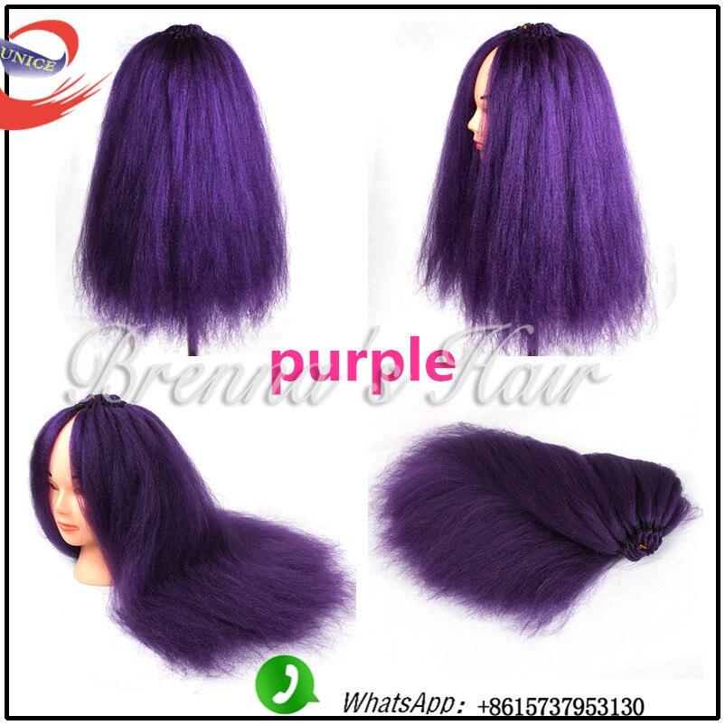 New coming Kinky Straight Hair Weave natural and soft Yaki Hair black african braids human straight hair feelings kinky perm