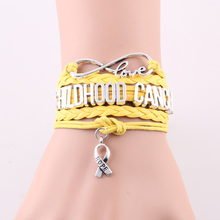 Infinity Love hope Charm Childhood Cancer bracelet Awareness bracelets & bangles gift for men women jewelry Drop Shipping