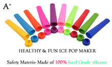 Ice Pop Molds Food Grade Pure Non-toxic Silicone Popsicle Holder Sleeve Sleeves Snack Cup Ice Container Keeper For Your Kids