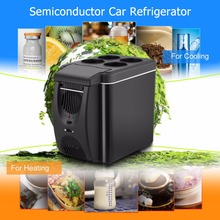 6L Mini Car Fridge Cooler Warmer 2 in 1 Multi-function 12V Travel Refrigerator Portable Electric Icebox Cooler Box Freezer