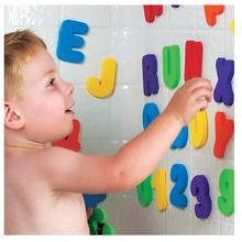 American Brand Water Shower Alphanumeric Paste Baby Bath Letters and Numbers Toy Puzzle 2 3 years old 36pcs/set A-Z and 0-9(China)