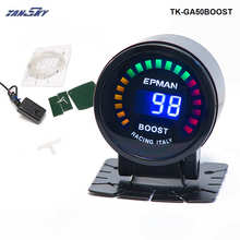 2015 New EPMAN racing 52mm Smoked LED PSI/BAR Turbo Boost Meter Gauge with Sensor For FORD MUSTANG 86-93 TK-GA50BOOST(China)