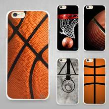 Basketball dark Hard White Cell Phone Case Cover for Apple iPhone 4 4s 5 SE 5s 6 6s 7 Plus