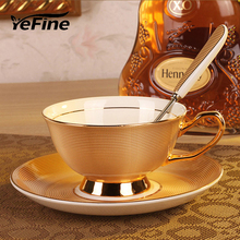 YeFine Royal Classical Bone China British Black Tea Cup Luxurious Ceramic Coffee Cups And Mugs High Quality Bone Porcelain Mugs(China)