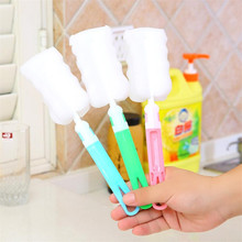 3pcs Kitchen Cleaning Tool Sponge Brush For Wineglass Bottle Coffe Glass Cup Small Foam Brusg Scraper cleaner for household