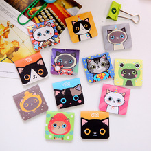6 pcs/pack Kawaii Cute Black Cat Magnet Bookmark Paper Clip School Office Supply Escolar Papelaria Gift Stationery Segnalibro