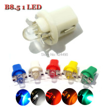 10 X led t5 b8.5 B8.5D smd 1 led Auto Wedge led Dashboard Warning Indicator for car  DC 12V white red blue yellow green