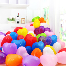 Free Shipping Lovely Heart Balloons 100pcs/lot Hearts Latex Helium Wholesale Wedding Birthday Ballon For Party Home Decoration