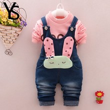 6M-4T Baby Girls Denim Overalls Rompers Infant Toddler Kids Jeans Jumpsuit huarache children Clothes Spring Winter