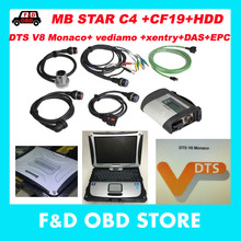MB Star C4 +CF19+Monaco8+Vediamo/DTS HDD Xentry Diagnostics System Compact 4 Mercedes Diagnosis Multiplexer For Benz Diagnose