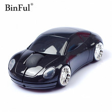 BinFul 2.4GHz Wireless Mini Car Shaped Gaming Mouse Optical USB Mouse/Mice 3D 3 Buttons 1000 DPI/CPI for PC Laptop Desktop Gamer(China)