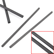 2pcs Mayitr Carbon Stirring Rod Black Graphite Electrode Bar 300x8mm For Gold Silver Melting