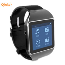 8GB watch MP3 player 1.5inch capacitive touch screen with FM/Pedometer/ebook/video bluetooth sport MP4 wrist watch music Player(China)