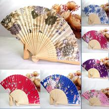 2017 Festival Decorations Hot Selling 1PC Japanese Cherry Blossom Folding Hand Dancing Wedding Party Decor Fan Dropshipping(China)