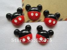 Rena!! Min.order $6 (mix order), Resin Newest Mickey for Hair Bow Center Phone Deco DIY (28*26mm), Free Shipping