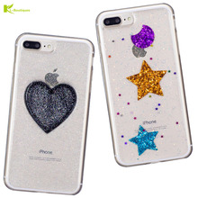 KL-Boutiques Bling Bling 6S Case for iphone 6 7 Cases Dream Star Moon Love Flash Powder Cover for iphone 6 6S 7 Plus Coque Women