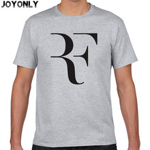 Joyonly 2017 Summer Men's New Fashion RF T shirt Men Roger Federer shirt Brand 100% Cotton Short sleeve Clothing tops tees TA34