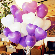 10 pcs 12 inch Heart-shap Latex Balloon Air Balls Inflatable Wedding Party Decoration Birthday Kid Party Float Balloons