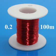 0.2mm x 100m/pc Red Magnet Wire Enameled Copper wire Magnetic Coil Winding 0.2 mm Red(China)
