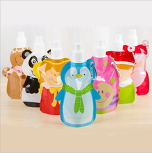 Portable folding children cartoon water bottle Bladder outdoor sport portable folding frozen water bag kids Eco-Friendly