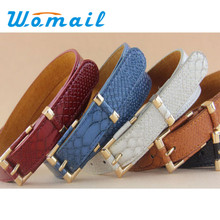 Womail fashion Female leather belt grain waistband belts for women cinto feminino Free Shipping 1pcs