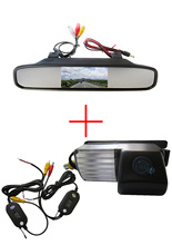 Wireless Car Rear View Camera for Nissan Livina Pulsar Versa Sentra Fairlady 350Z 370Z Skyline,with 4.3 Inch Rearview Monitor