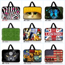 Cute Designs Laptop Notebook Cover Bag For Macbook Air 11 Surface Pro 3 Computer Neoprene Cases Bag For 7 10 12 13 15.6 17