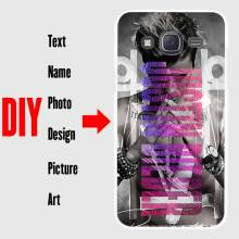 DIY Photo Name Text Customized Hard Cell Phone Case Cover Shell Coque for Samsung Galaxy J1 J2 J3 J5 J7 2016 2017 2015 Prime