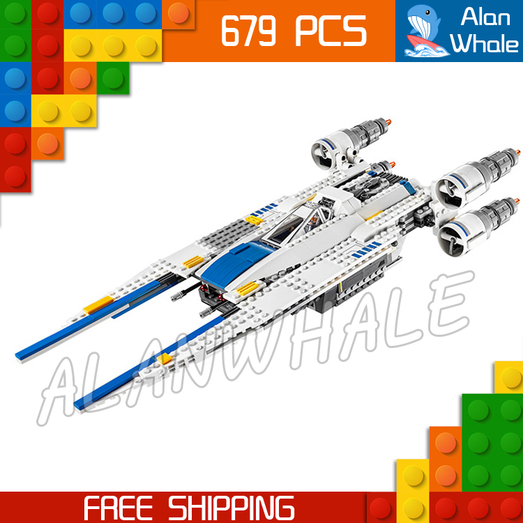 679pcs New Space Wars 05054 Rebel U-Wing Fighter Model Building Blocks Assemble Bricks Kit Children Toys Compatible With Lego<br>