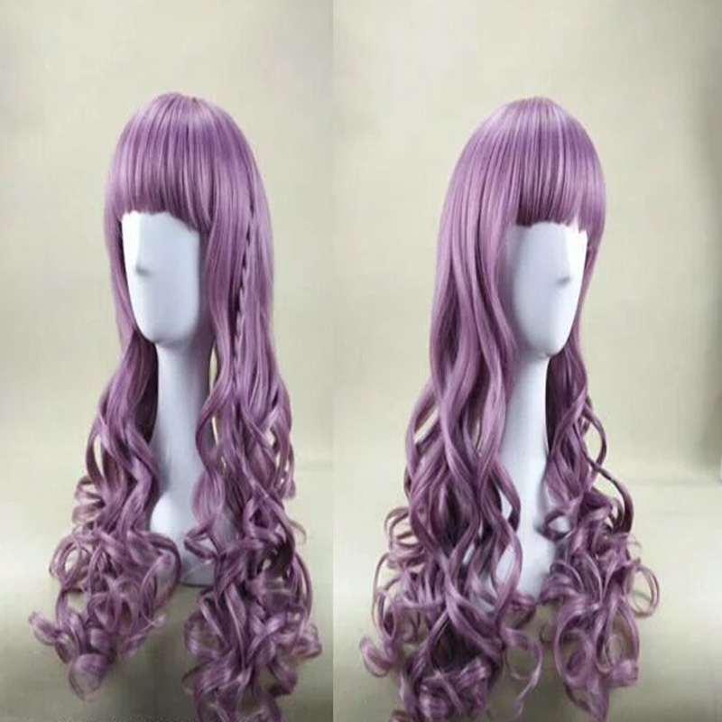 HAIRJOY Purple Cosplay Wig with a Small Pigtail 70cm Long Wavy Synthetic Hair Party Wig Costume Halloween Wig <br><br>Aliexpress