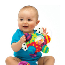 TWINKLECAT Baby Toys Ball Colorful Educational Mobile Baby Shaker Baby Hands Feet Trainning Ball Shaking Rattle 0-6 Year Child T(China)