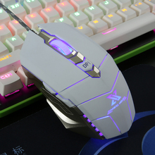Zimoon X6 USB Professional Wired Gaming Mouse 6 Button 2400 DPI Game Mice With Colorful LED Light For Dota 2 CS Lol