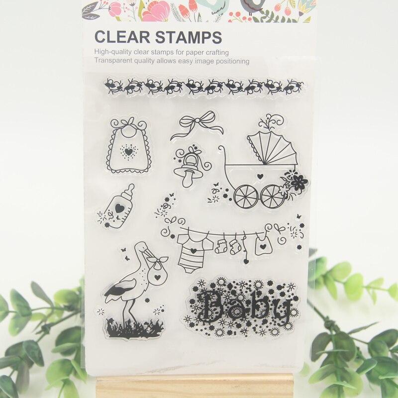 1 sheet DIY Baby Bottle Scrapbook DIY photo cards account rubber stamp clear stamp transparent stamp<br><br>Aliexpress