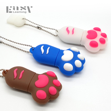 Real Easy Learning Cartoon Paw USB 2.0 Cat Claw USB Flash Drives 4GB 8GB 16GB 32GB 64GB Pen Drive Memory Stick Pendrives Gifts