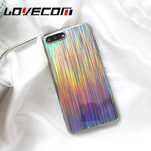 Buy LOVECOM Bling Shining Phone Case iPhone 6 6S 7 7Plus Case Luxury Laser Colorful Rainbow Phone Bags Soft TPU Back Cover Coque for $2.60 in AliExpress store