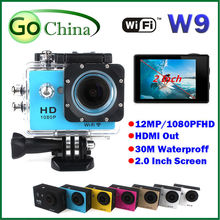 iaotuGo  W9 action camera wifi 30M sport DV waterproof 30M diving camera 2 inch COMS full HD1080P 12MP