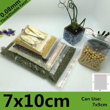 1000pcs 7*10cm PE Clear Transparent Photo Card Packaging Bags Plastic Travel Necklace Jewelry Diy Custom Ziplock Self Seal Bag(China)
