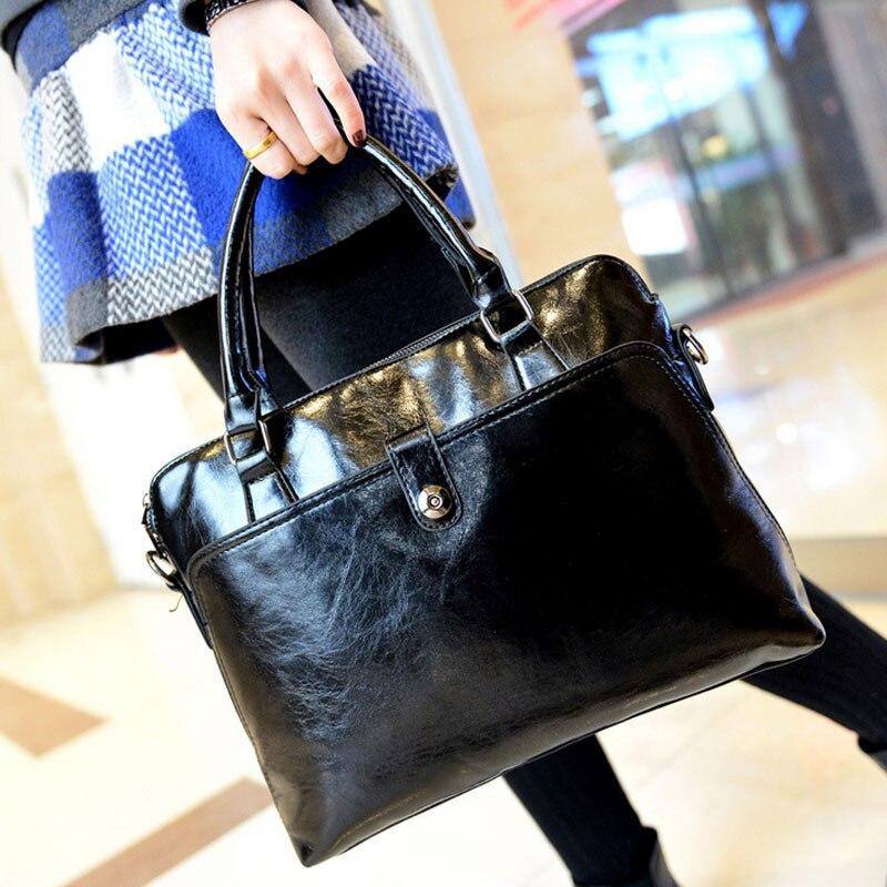 Newest Women Leather Handbags Tote Womens Office Bag Fashion Female Shoulder Bags Versatile Messenger Bag N1105<br><br>Aliexpress